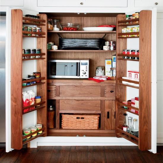 Wooden kitchen storage | Kitchen larder | Kitchen storage ideas | IMAGE | Housetohome.co.uk