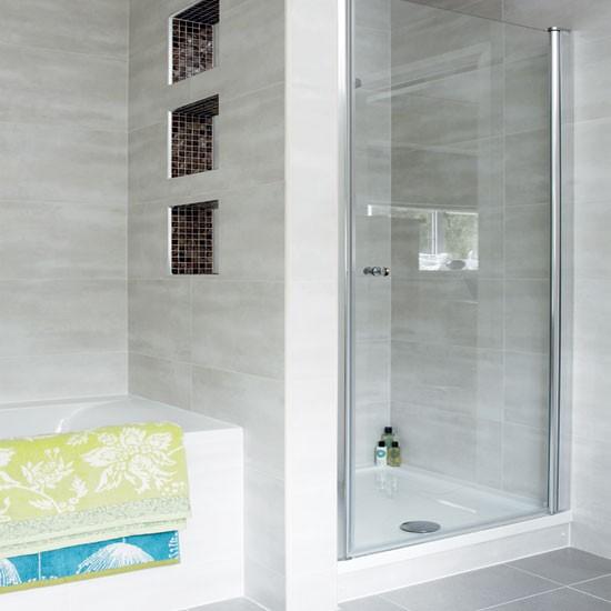 Modern pale grey bathroom | Bathroom decorating | Bathroom design | Bathroom | Ideal Home | IMAGE | Housetohome.co.uk