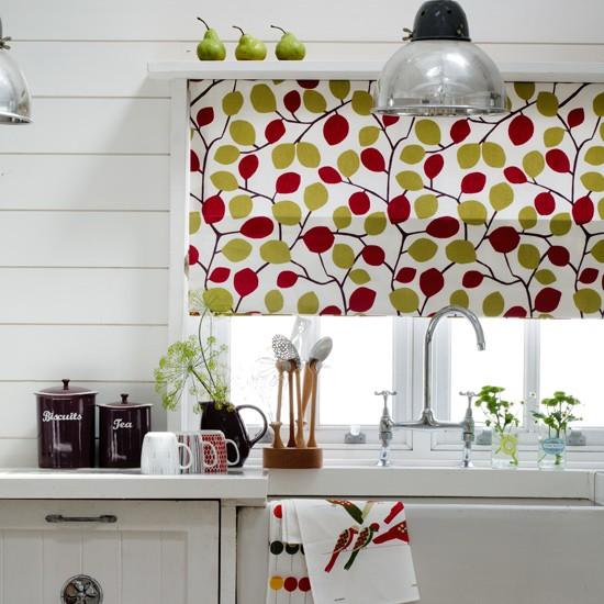 Retro style kitchen with graphic patterns kitchen for Retro kitchen ideas uk