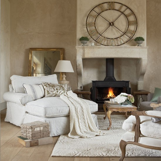 Cosy french style living room living room decorating for Living room in french