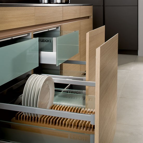 Crockery and cutlery drawer from leicht kitchen storage 10 of the best ideas Handleless kitchen drawers design