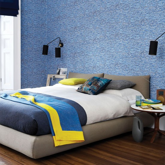 Blue tweed bedroom | Bedroom decorating ideas | Bedroom | Livingetc | IMAGE | Housetohome.co.uk