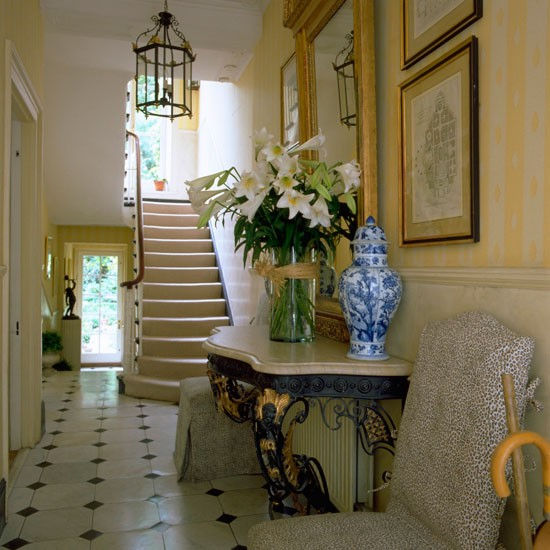 Opulent furnishings classic entrance halls 10 best for Entrance flooring ideas