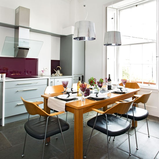 Modern Burgundy Kitchen