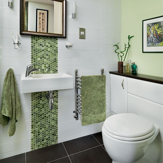 Green mosaic bathroom bathroom decorating ideas for Mosaic tile designs for bathrooms
