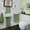 Green mosaic bathroom