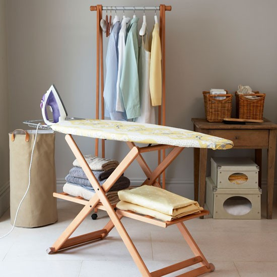 Make light work of ironing country utility rooms 10 of the best - Ironing board for small spaces decor ...