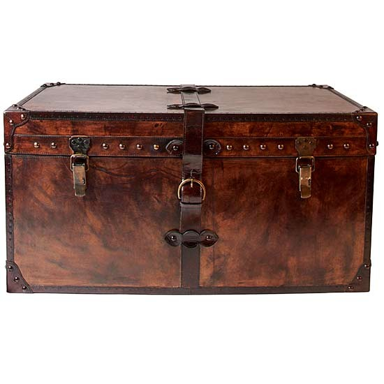 Brown Leather Storage Trunk From Day Birger Et Mikkelsen