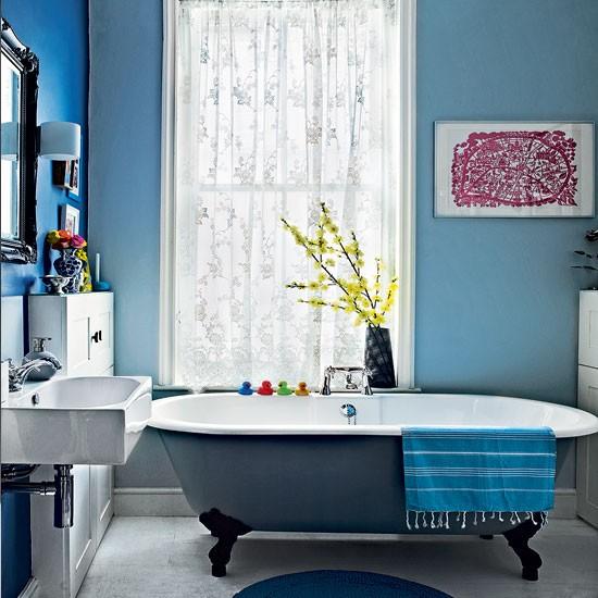 Modern blue bathroom | Bathroom decorating ideas | Bathroom | Livingetc | IMAGE | Housetohome.co.uk