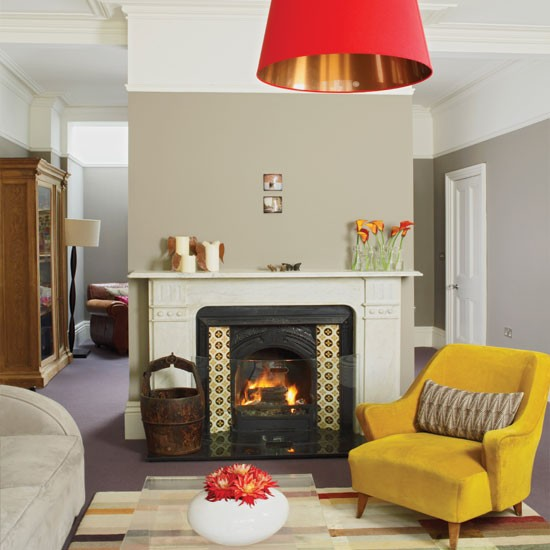 Cosy living room with fireplace | Living room decorating ideas | Living room | Homes & Gardens | IMAGE | Housetohome.co.uk