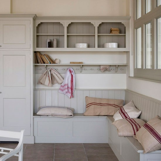 Classic neutral utility room with storage and seating | Storage | Housetohome | Decorating ideas | PHOTOGALLERY