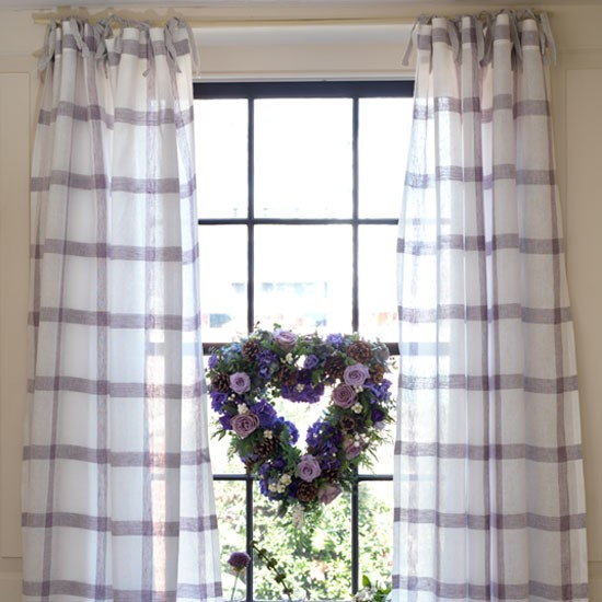 Freshen up a window with our easy curtain make