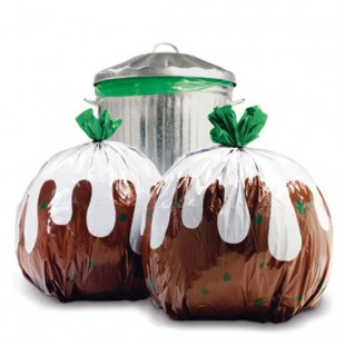 Christmas pudding bin bags from Suck UK | Product Finder | Housetohome.co.uk