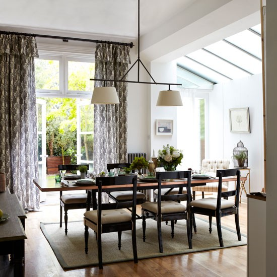 Zoning within a larger area classic dining rooms 10 of for Dining room lighting uk