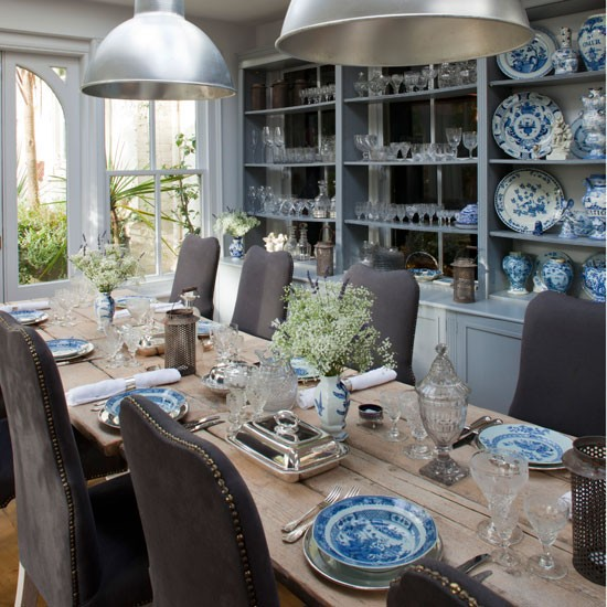 Contemporary farmhouse classic dining rooms 10 of the for Dining room lighting ideas uk