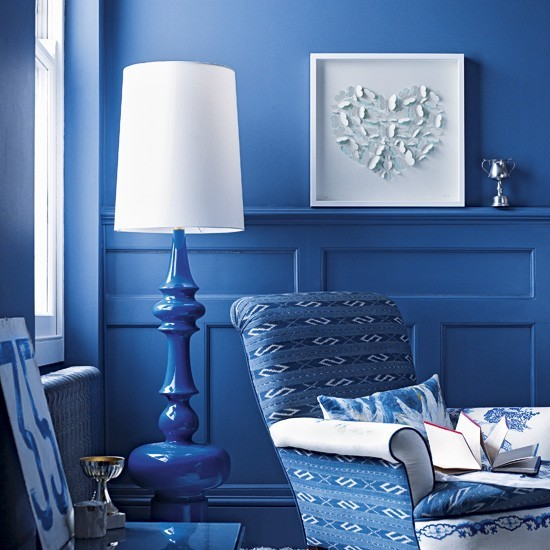 Vibrant blue living room | Living room colour schemes - 10 of the ...