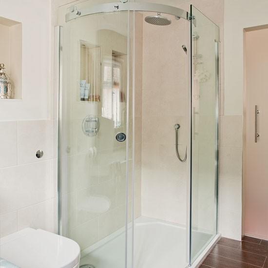Supersized shower area | Bathroom decorating ideas | Bathroom | Ideal Home | IMAGE | Housetohome.co.uk