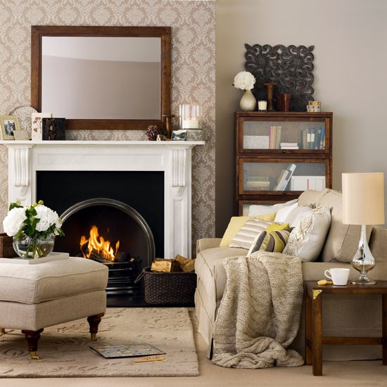 Cosy stylish living room living room decorating ideas for Living room makeover ideas uk
