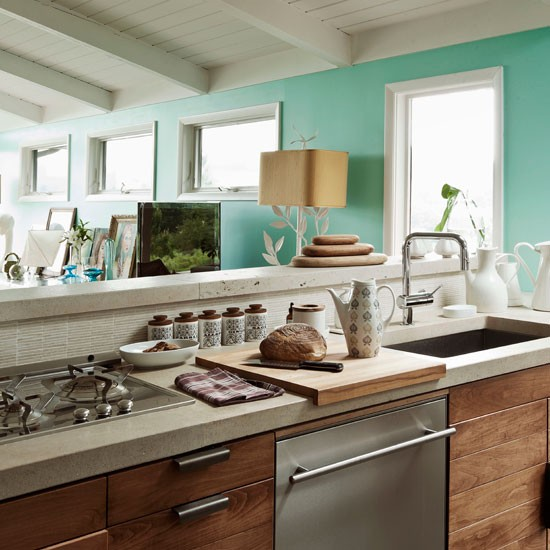 Housetohome Co Uk: Fresh Contemporary Kitchen