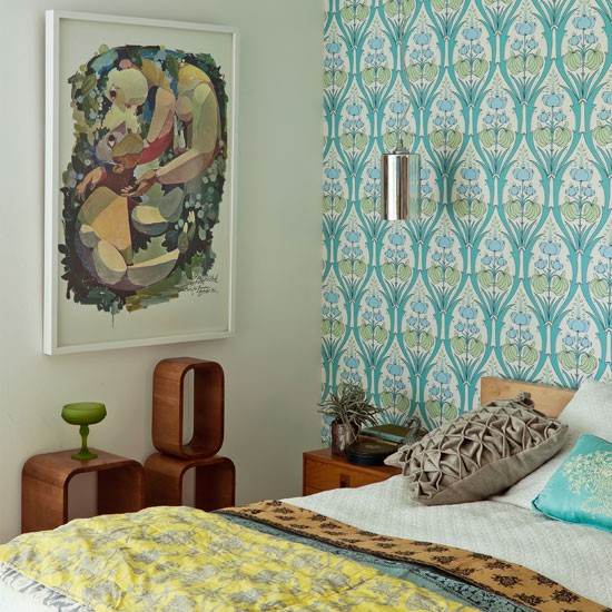 Modern patterned bedroom | Bedroom decorating ideas | Bedroom | Livingetc | IMAGE | Housetohome.co.uk