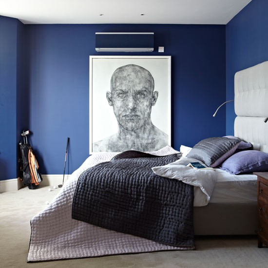 Modern Bedroom With Blue Color Contemporary Bedroom Designs For   Blue  Bedrooms Ideas   Blue Bedroom
