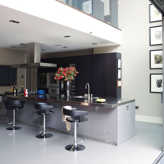 Industrial style kitchen kitchen decorating ideas for Industrial style kitchen uk