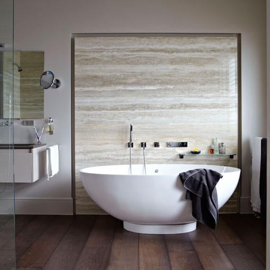 Modern marble bathroom bathroom decorating ideas for Bathroom decor uk