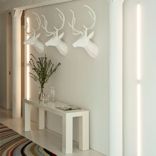Modern white hallway | Hallway decorating ideas | Hallway | Livingetc | IMAGE | Housetohome.co.uk