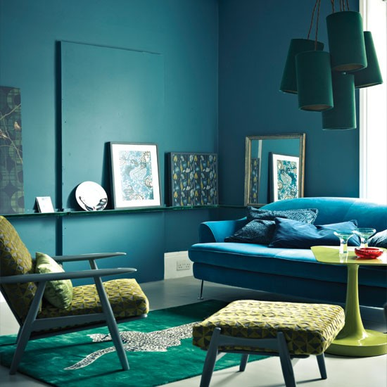 Midnight blue living room | Living room decorating ideas | Living room | Livingetc | IMAGE | Housetohome.co.uk