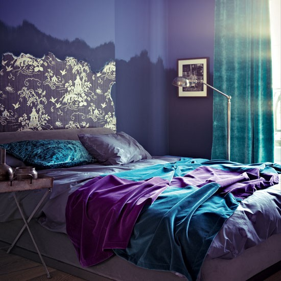 Modern purple bedroom | Bedroom decorating ideas | Bedroom | Livingetc | IMAGE | Housetohome.co.uk