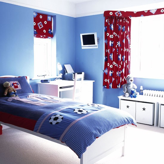Boys football bedroom home design inside for Themed bedrooms for boys