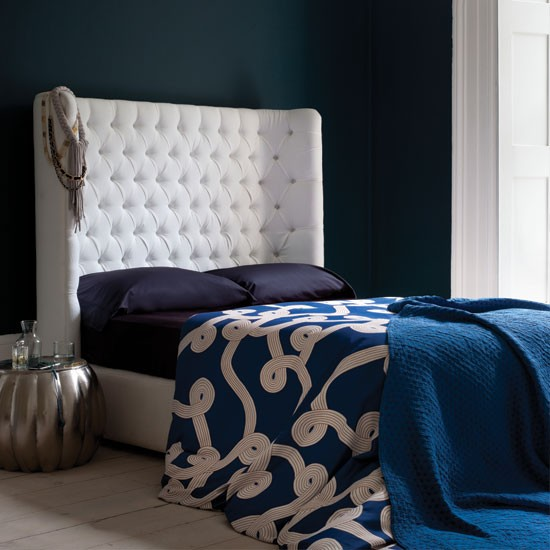 Dramatic Blue Bedroom Bedroom Decorating Ideas