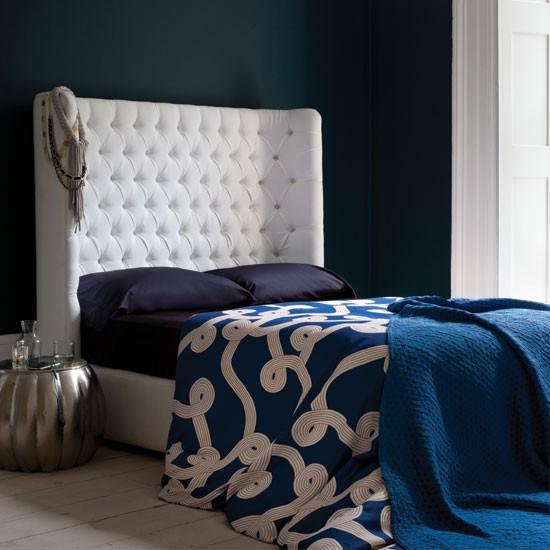 Dramatic blue bedroom | Bedroom decorating ideas | Bedroom | Livingetc | IMAGE | Housetohome.co.uk