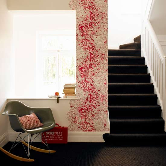 Stencilled hallway | Hallways | Modern designs | Decorating ideas | PHOTO GALLERY | Housetohome.co.uk