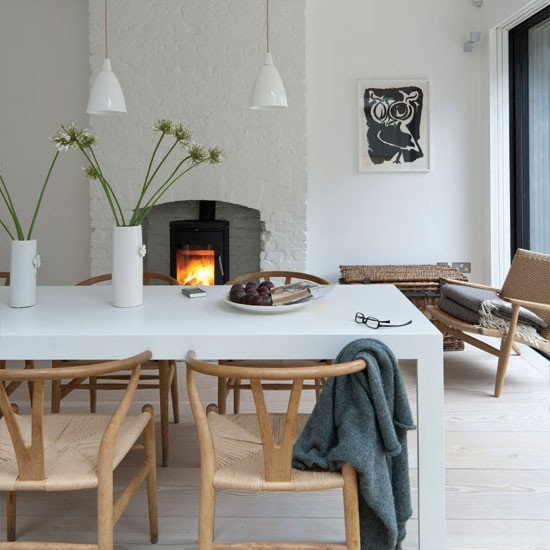 Crisp white dining room | Dining room decorating ideas | Dining room | Livingetc | IMAGE | Housetohome.co.uk