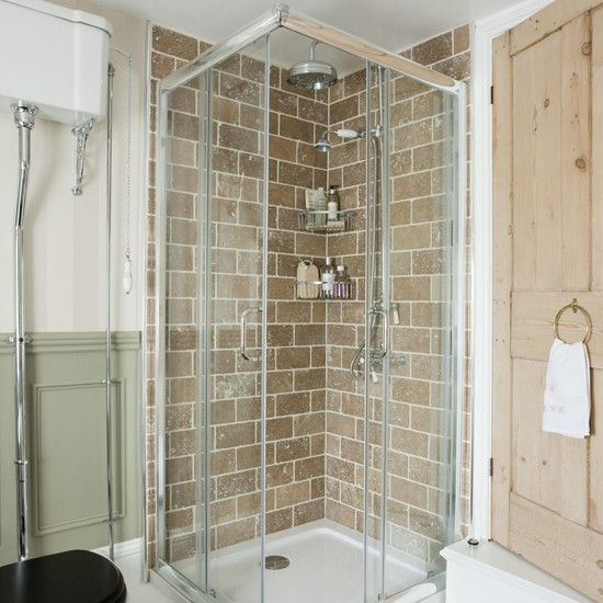 Modern bathroom shower | Shower room designs | Neutral bathroom tiles | Housetohome