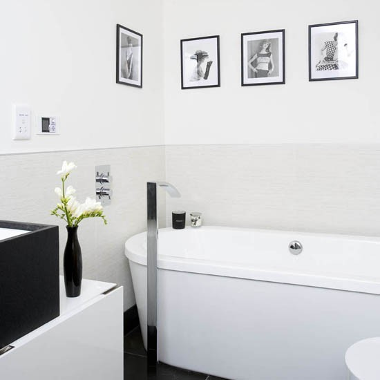 Monochrome bathroom modern bathroom ideas housetohome for Monochromatic bathroom designs