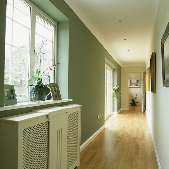 Light and airy long hallway hallway colour schemes for Best colour for hall