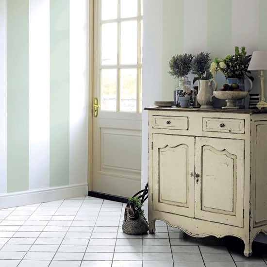 Striped hallway | Paint | Country | Country Homes & Interiors
