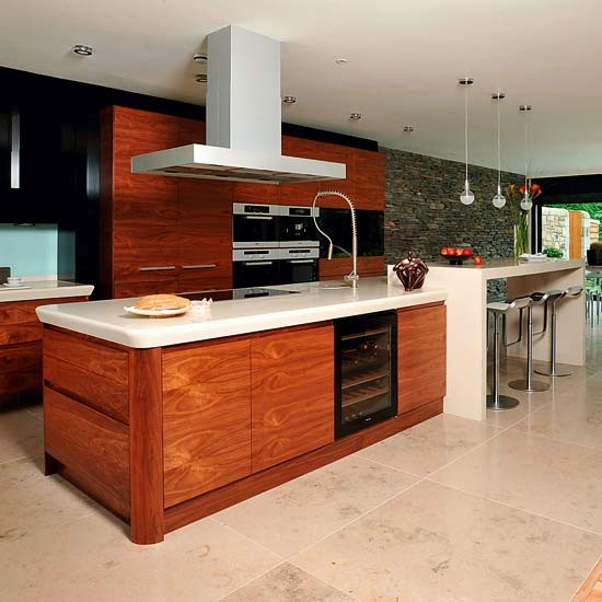 Team wood with white Kitchen island ideas