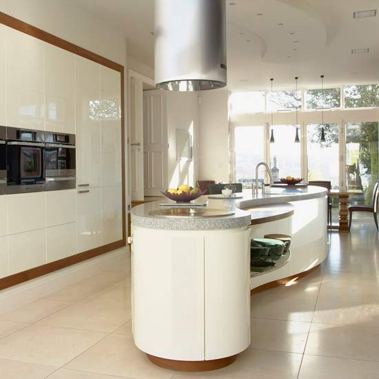 Sleek and minimalist kitchen islands 15 design ideas for Kitchen design ideas uk