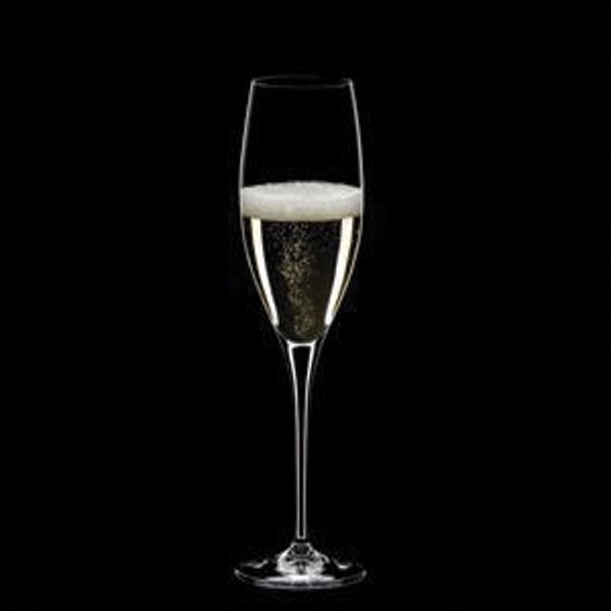 The right flute-shape glass will help your bubbles last longer