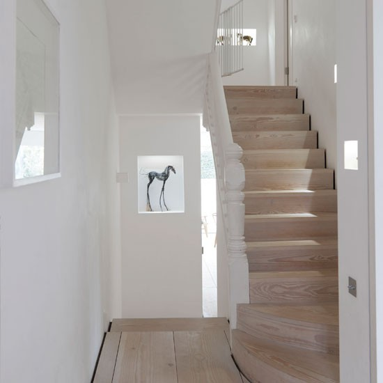 minimal white hallway hallway decorating ideas