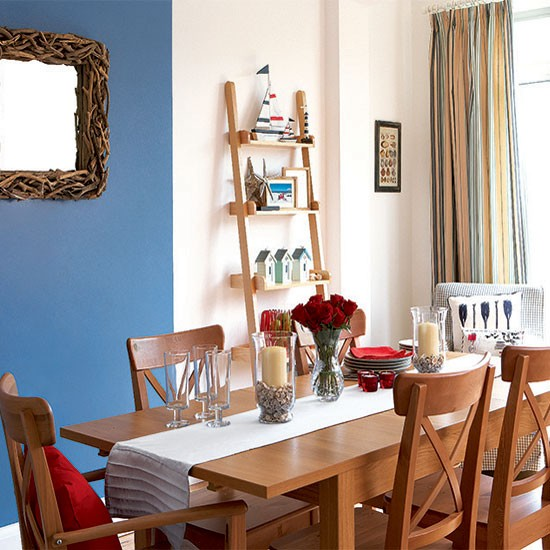 Bright nautical dining room | Dining room decorating ideas | Dining room | Style At Home | IMAGE | Housetohome.co.uk