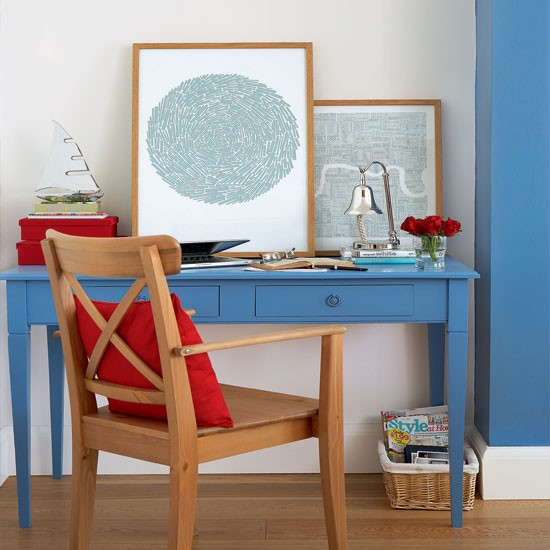 Nautical-style home office | Home office decorating ideas | Home office | Style At Home | IMAGE | Housetohome.co.uk