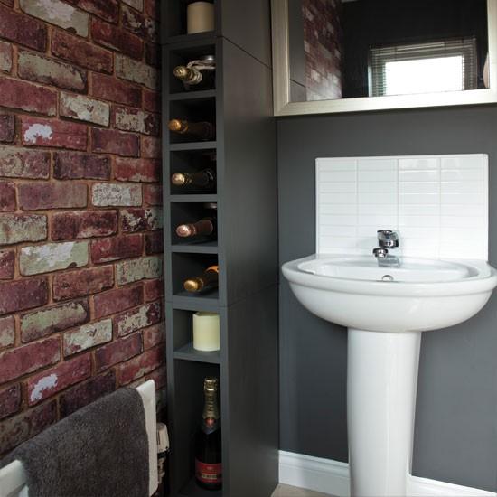 Wallpaper effect bathroom bathroom for Quirky bathroom ideas