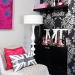 Modern teenage girl's bedroom