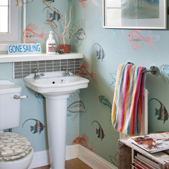Nautical style bathroom bathroom for Nautical bathroom decor ideas