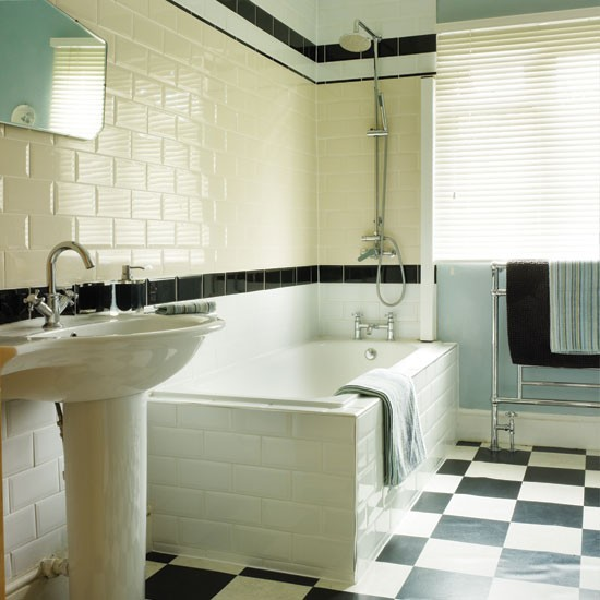 Bathroom retro inspired terraced home for 1950s bathroom ideas
