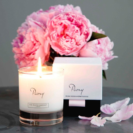 Peony Signature Candle from The White Company | Valentine's Day gifts for her | Valentine's Day gifts | PHOTO GALLERY | Housetohome.co.uk